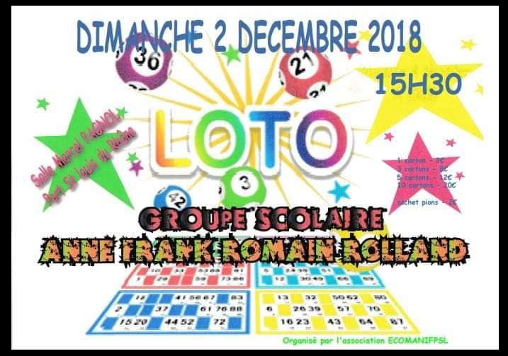LOTO GROUPE SCOLAIRE ANNE FRANK/ROMAIN ROLLAND