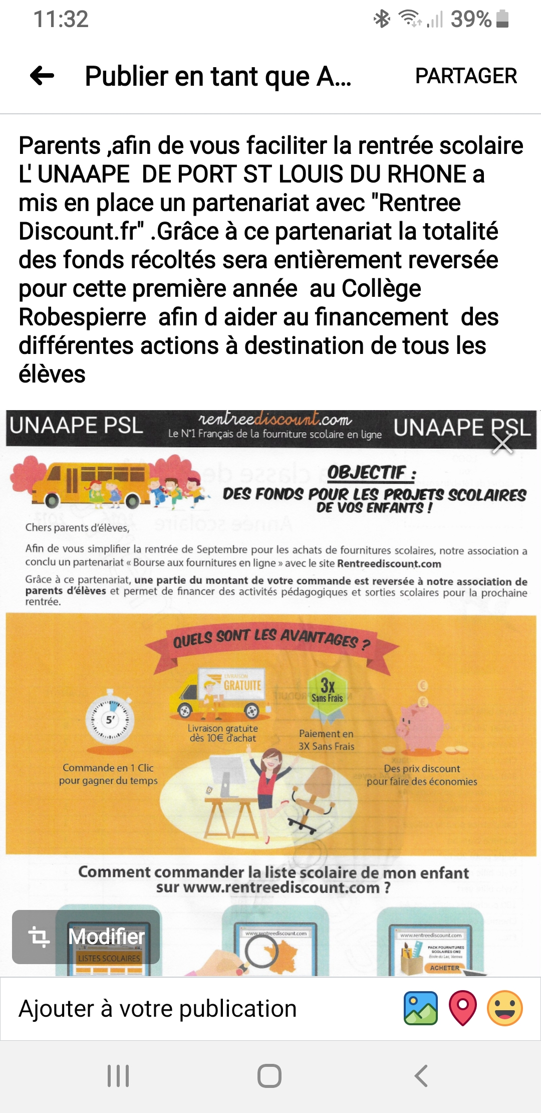 TR: INFO  ACTION FOURNITURE SCOLAIRE RENTREE 2020/2021